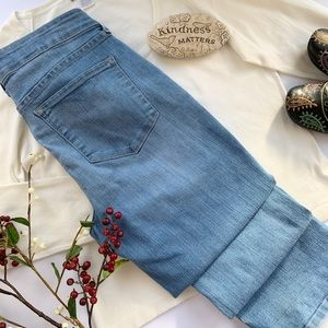 NYDJ High Waist Straight Lain Pocket Jeans